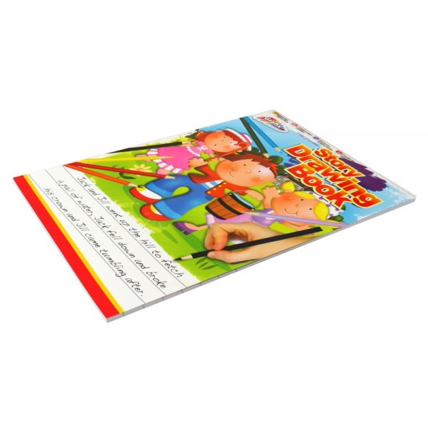 Padded Grafix A4 Childrens Story and Drawing Book 40 Sheets