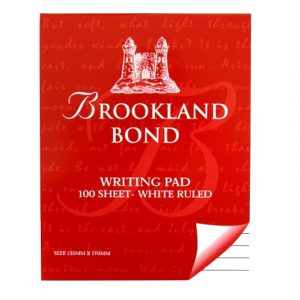 Brookland Writing Notepad Front