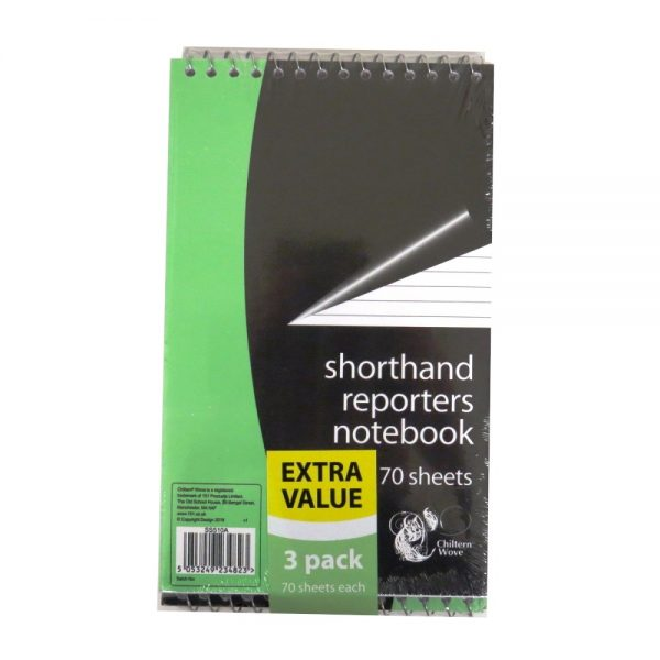 Shorthand Reporters Notebook New Front 3 Pack Front
