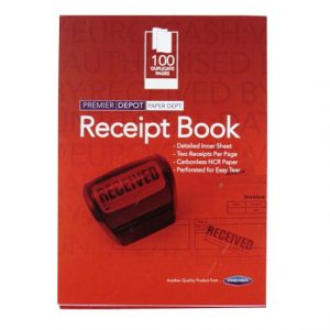 Receipt Book Red Cover Front
