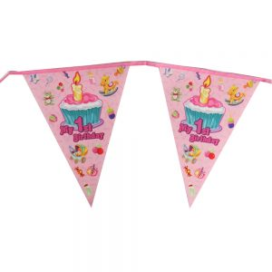 My 1st Birthday Long Party Hanging Bunting, Pink