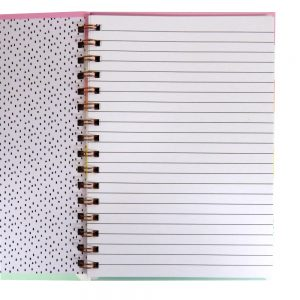 A5 Wirebound Notebook - Rose Gold, Ideas, 140 Pages