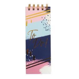 Flip Over Slim Wirebound Notebook - Gold To Do, 160 Pages