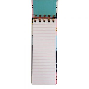 Flip Over Slim Wirebound Notebook - Gold To Do, 160 Pages