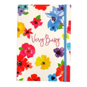 A5 Bound Notebook with Closure - Flower Burst