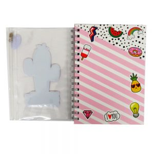A5 Wiz Art Notebook with Bound in Pencil Case - Ideas and Notes. 160 Pages
