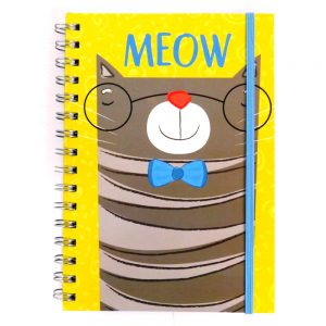 A5 Purrfect Pet Notebook with Closure - Meow, 200 Pages