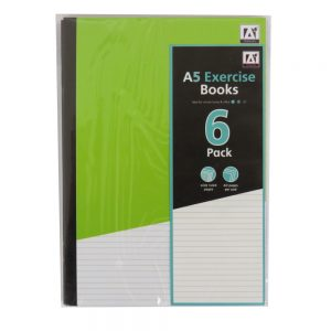 A5 Exercise Books - 6 Pack - Front