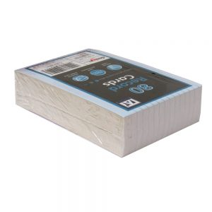 White Index Record Cards, Pack of 80