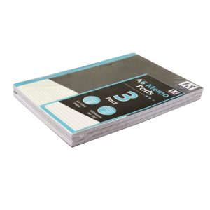 A6 Memo Notepads, Pack of 3 - Each 100 Pages