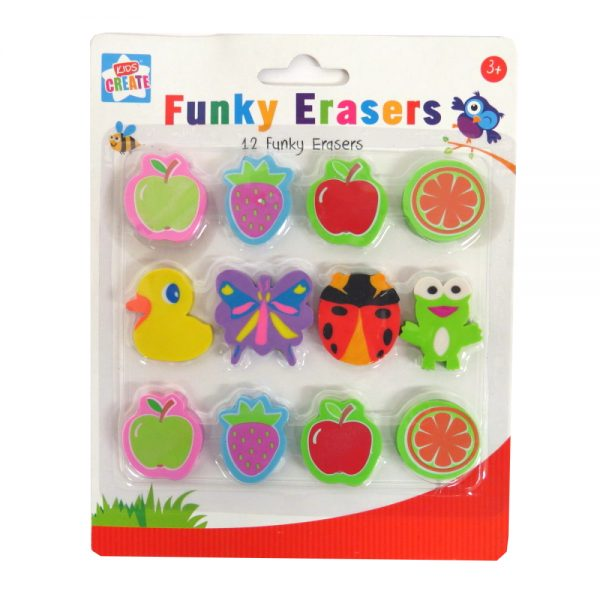 Funky Shaped Eraser Pack