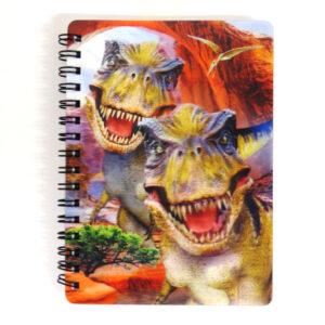Super 3D Moving Cover A6 Wirebound Notebook, T Rex Selfie