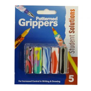 Patterned Pen and Pencil Grippers