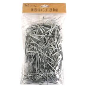 Shredded Glitter Foil Paper Silver