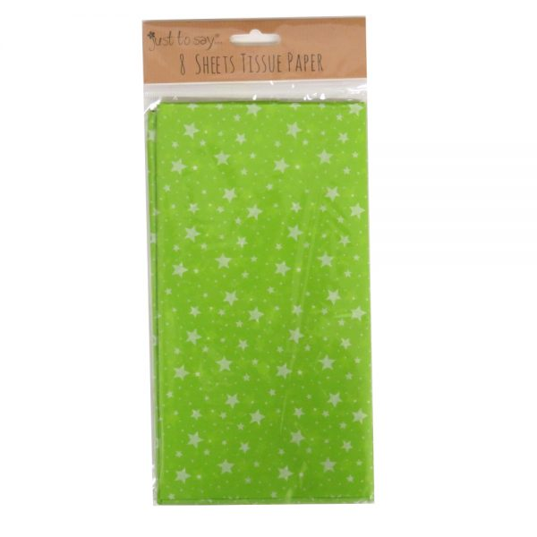 Printed Tissue Paper Green Stars