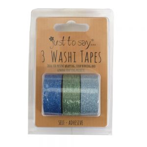 Washi Tape Glittered Blues and Copper