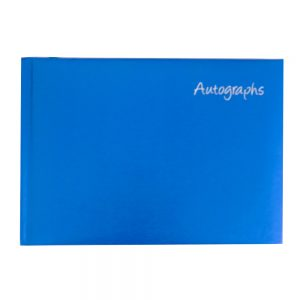 Autograph Signature Book Blue