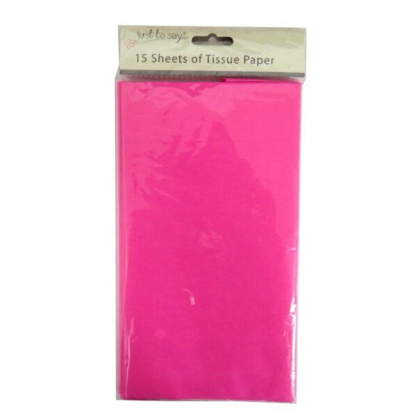 Coloured Large Tissue Paper - Dark Pink