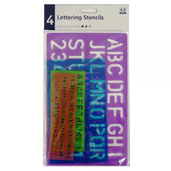 Lettering Capitals Italics Word Number Art Stencil Pack