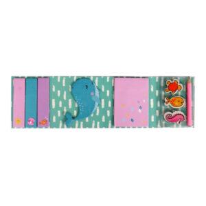 Mermaid Dream Big Girls Sticky Note Gift Folder