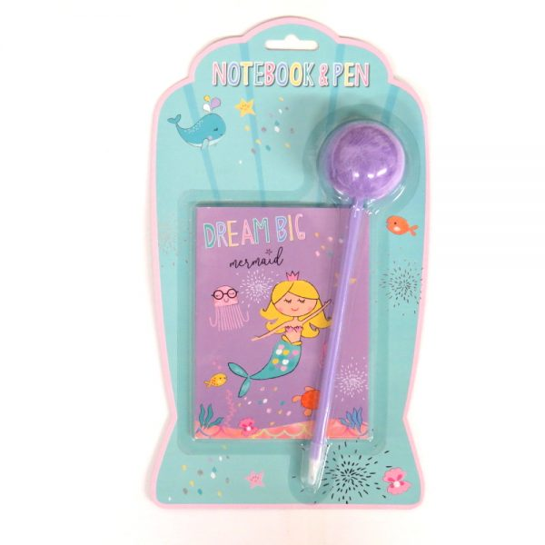 Mermaid Dream Big Notebook and Pen