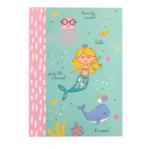 Girls Mermaid Dream Big Journal Paper Notebook