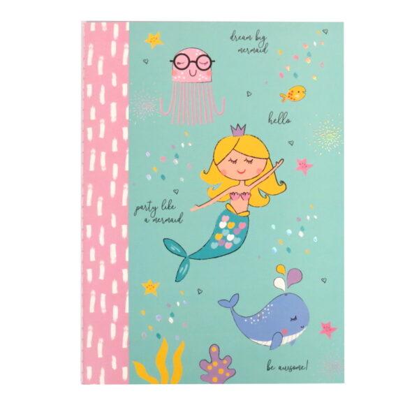 Girls Mermaid Dream Big Journal Paper Notebook