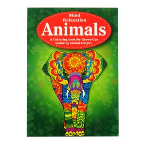 Mind Relaxation Adult Colouring Book Animals