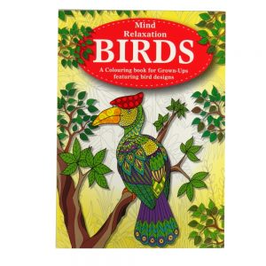 Mind Relaxation Adult Colouring Book Birds