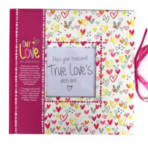 Keepsake Journal Record Book Love Hearts Valentine