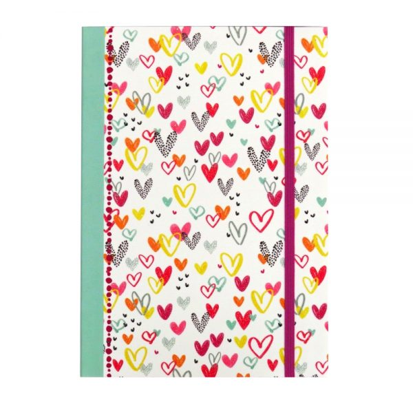 A5 Journal Writing Paper Notebook Love Hearts Valentine