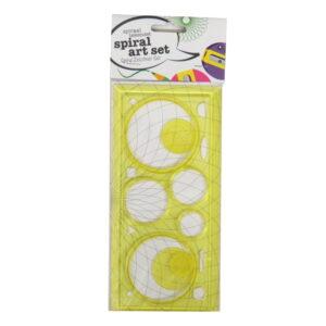 Spiral Drawing Art Set Yellow