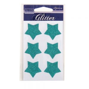 Icon Craft, Glitter Self Adhesives Blue Stars