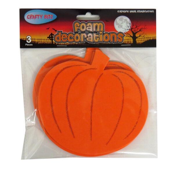 Foam Craft Decorations Halloween Pumpkins