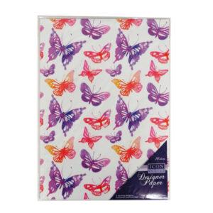 A4 Designer Paper Butterflies