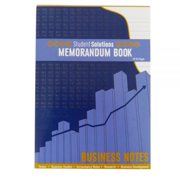 Student Solutions A4 Memorandum Book Ruled