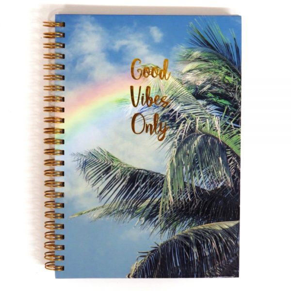 I Love Stationery A5 Wire Notebook Good Vibes Only