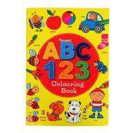 Educational Colouring and Practice Book ABC 123