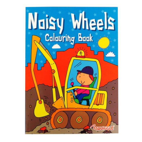 Colouring Activity Book Noisy Wheels