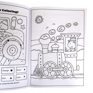 Childrens Colouring and Activity Book, Noisy Wheels