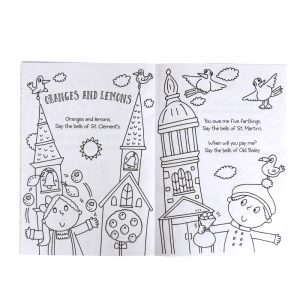 Nursery Rhymes A4 Colouring Book