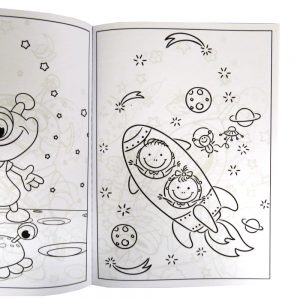 Childrens Colouring Book, Space Adventure