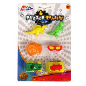 Grafix 3D Puzzle Erasers Boys Accessories