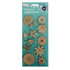 Craft Sensations Chipboard Embellishments Floral and Petals