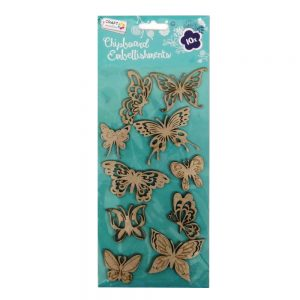 Craft Sensations Chipboard Embellishments Butterflies