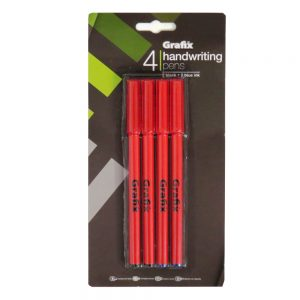Grafix Handwriting Pens Black Blue Ink