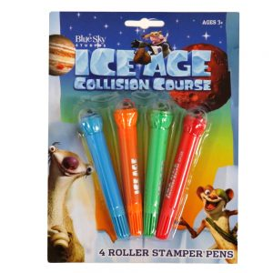 Ice Age Collision Course Roller Stamper Pens