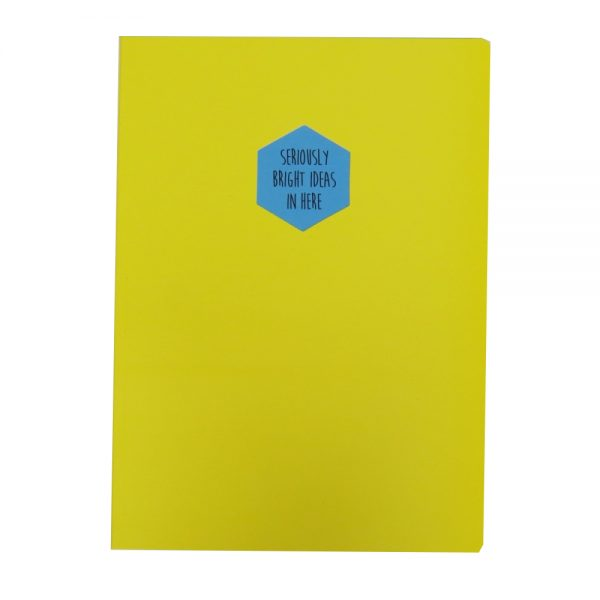Contrasting Quote A4 Notebook Seriously Bright Ideas