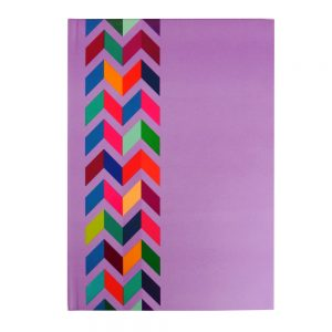 A4 Writing Notebook Lilac Chevron