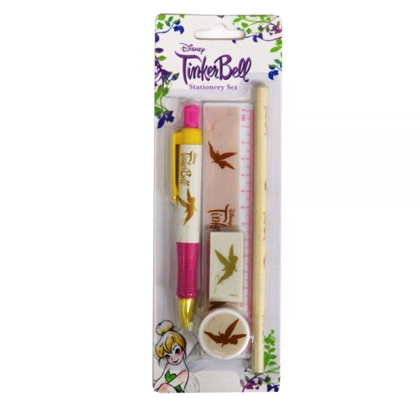 Disney Tinkerbell Gold Stationery Set - Front